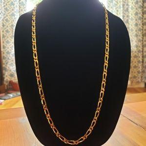 "Vintage Goldtone Monet Figaro Chain Necklace 30"""